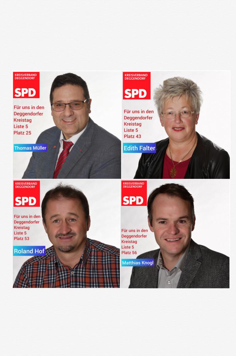 Vier Kreistagskandidaten