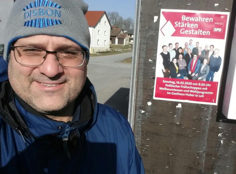 Weißwurstessen und Wahlprogramm Flyer
