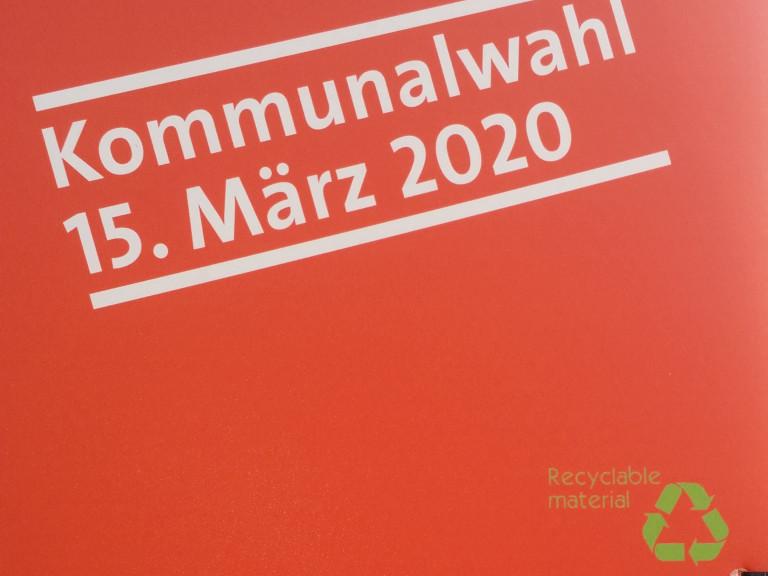 Plakate aus recycelten Material